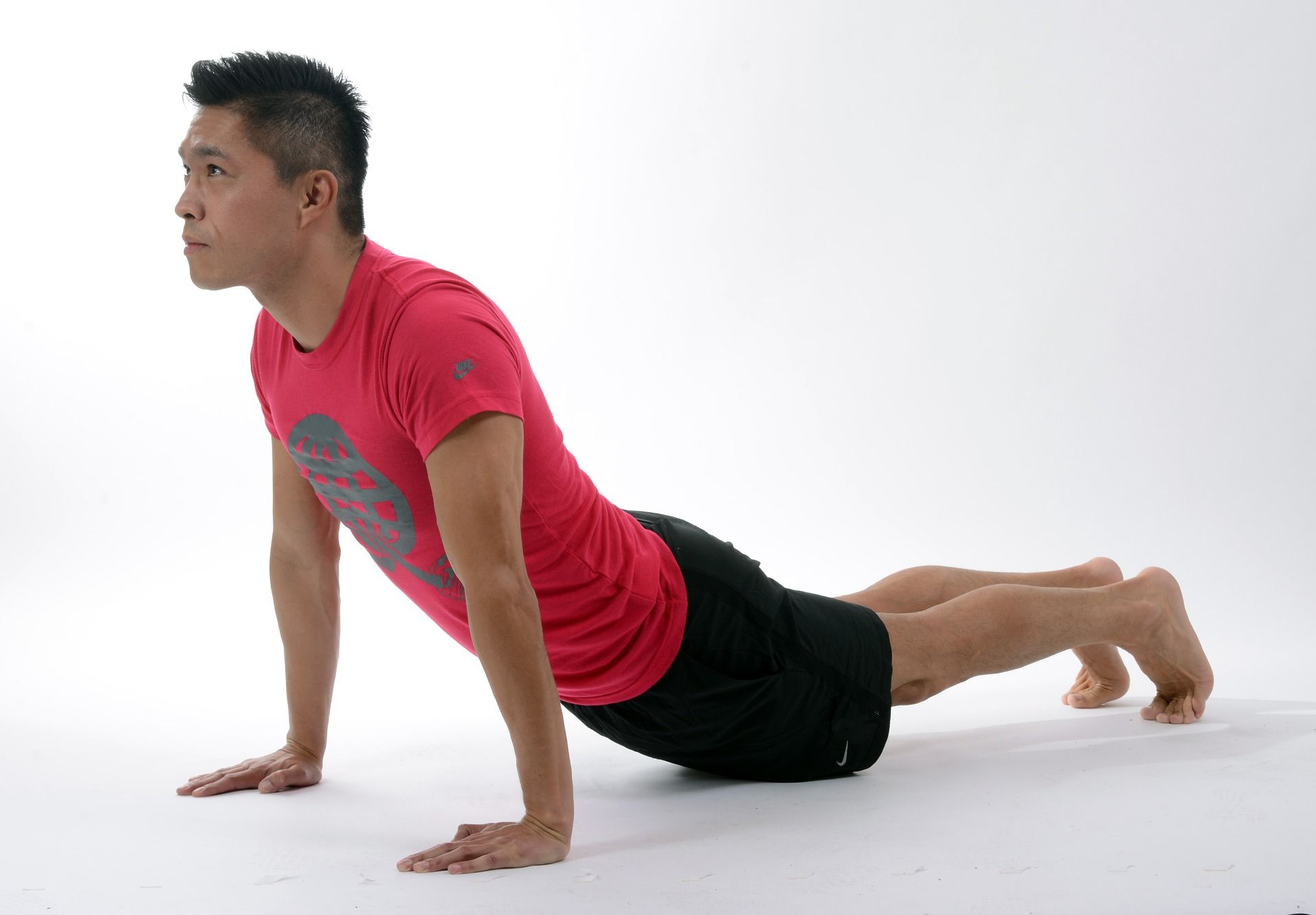 beginner yoga poses for men upward Facing Dog